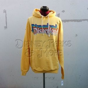 Disneyland Retro Logo Yellow Sweatshirt Hoodie